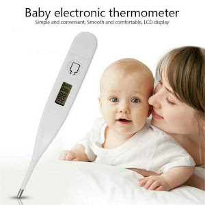 Set 2 x termometru digitale, afisaj electronic, Alb