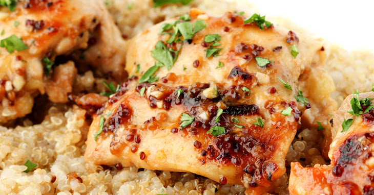 Honey Mustard Glazed Chicken Thighs Recipe