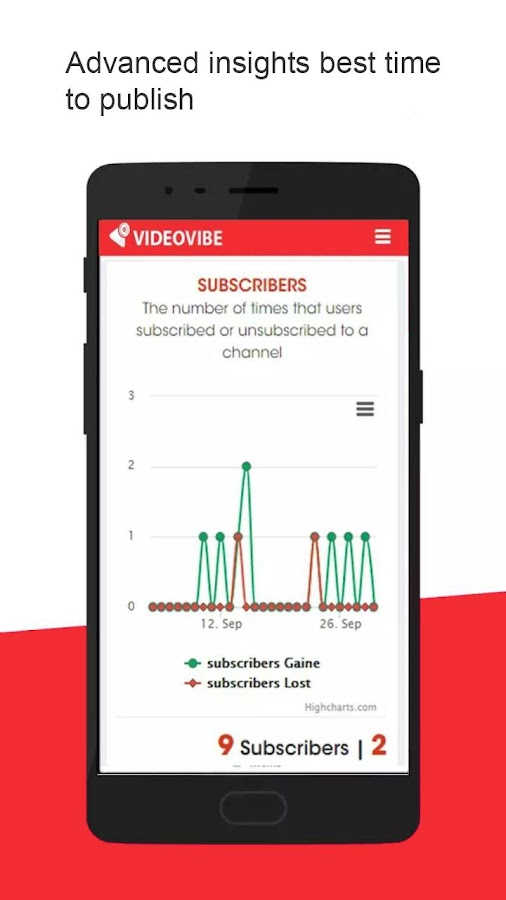 VideoVibe Youtube Analytics- screenshot