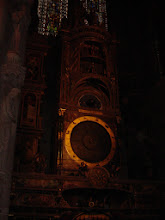 Photo: In the back of the Cathedral is a large medieval astronomical clock, with solar and lunar settings and moving figures.