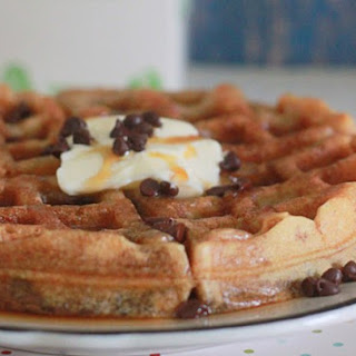 Eggnog Chocolate Chip Waffles.