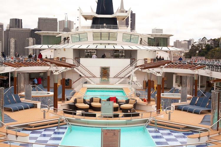 The main Pool Deck aboard Celebrity Infinity.