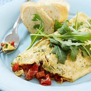 Chorizo and Tomato Omelette