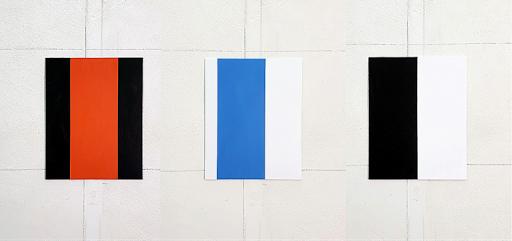 Walter van Peijpe, zonder titel, acryl op aluminium, 20 x 25 cm, 2020  [serie van 12]