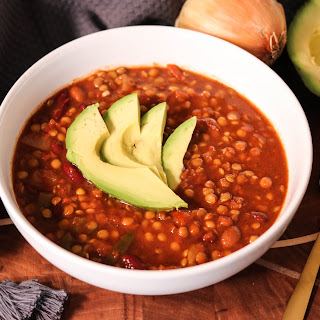 Slow Cooker Bean and Lentil Chili.