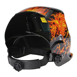 Masca de sudura Intensiv FLAME, 92x42 mm, display cristale lichide, incarcare solara