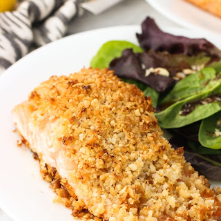 Coconut Macadamia Crusted Salmon.