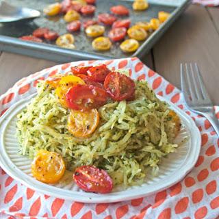 Pesto Spaghetti Squash with Roasted Tomatoes Recipe