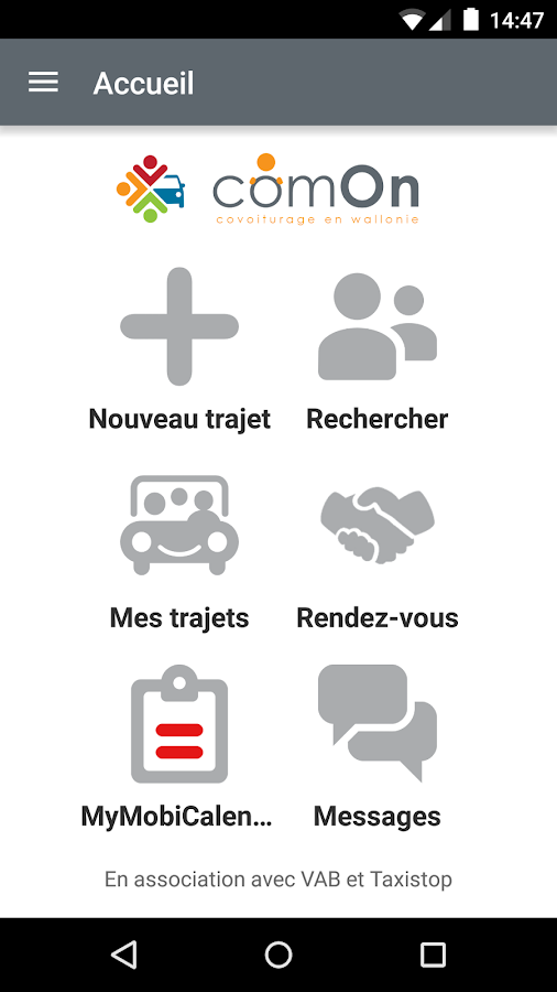 ComOn : l'appli covoiturage- screenshot