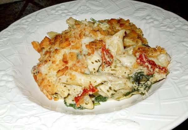 Eezy Peezy Mediterranean Chicken Penne Recipe