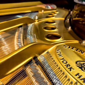 Music Box... by David Lawrence - Artistic Objects Musical Instruments ( music, piano, keys, grand, strings, gold, instrument, new york, steinway )