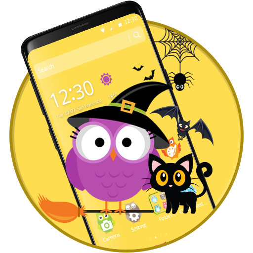 Cute Halloween Owl Theme icon