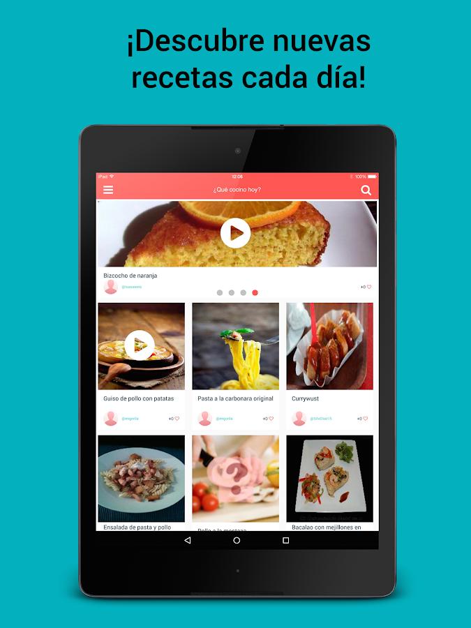 que cocino hoy recetas cocina android apps on google play