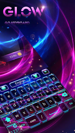 Glow GO Keyboard Theme Emoji