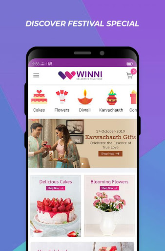 Winni - Cake, Flowers & Gifts Delivery India 3.16.0.1 screenshots 2