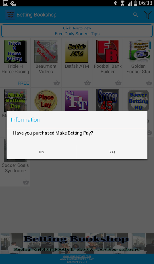 Betting Bookshop- screenshot