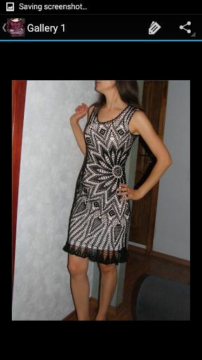 Crochet Pattern Skirt Dress