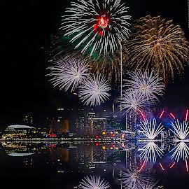 holiday celibration by Senthil Damodaran - Public Holidays Other ( holiday, fireworks, ndp firework rehearsal, celebration, night, lights )