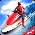 Jetski Water Racing: Superheroes League icon