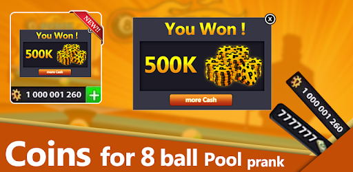 Coins for 8 ball Pool : PRANK for PC