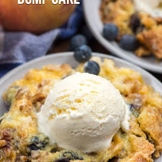 Blueberry Peach Dump Cake.