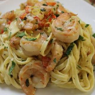 Lemon & Herb Linguine With Shrimp
