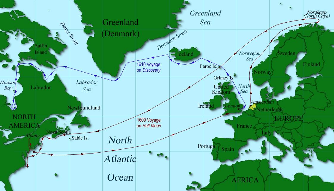Image result for Hudson  voyage map