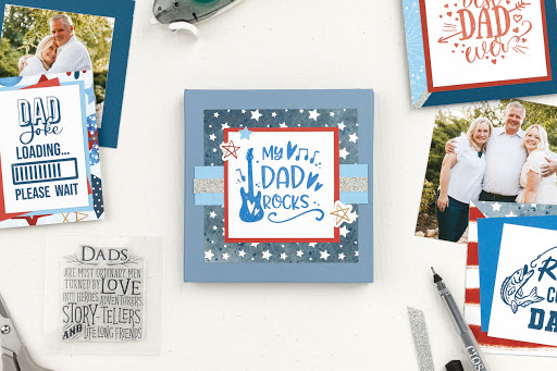 Father's Day Mini Album with Cutting Diagram from CTMH...