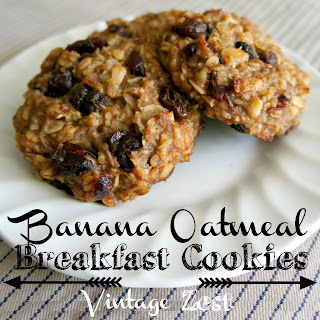 "Banana Oatmeal Breakfast ""Cookies"""