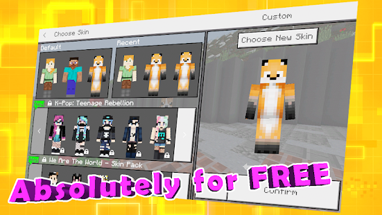 Best Animal Skins For Minecraft MCPE Apps On Google Play - Skins para minecraft pe kpop