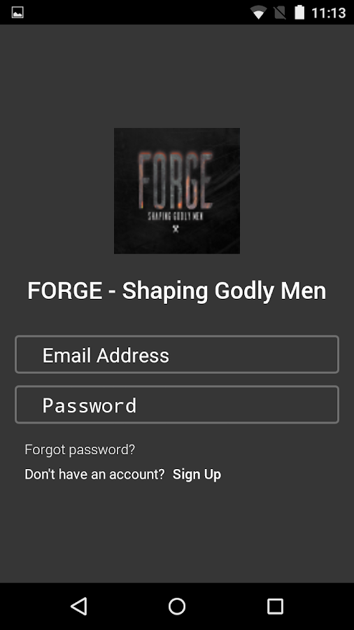 FORGE - Shaping Godly Men- screenshot