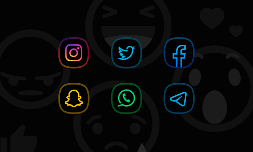 Horux Black – Icon Pack (MOD, Paid) v3.1 5
