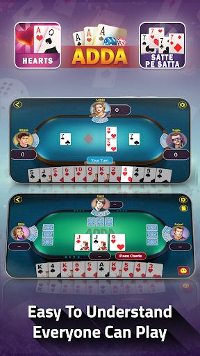 Adda : Rummy , Callbreak ,Solitaire & 29 Card Game modavailable screenshots 14
