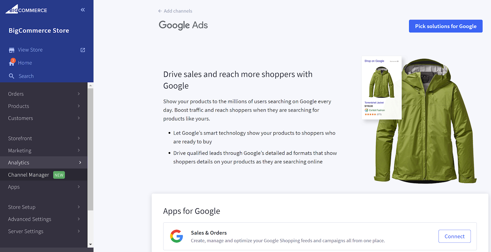 BigCommerce Channel Manager Google Shopping
