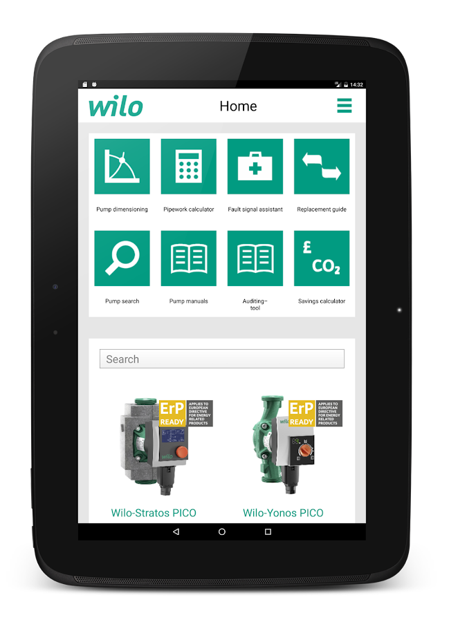 Wilo assistant- screenshot