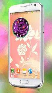 Květiny Hodiny Widget - náhled
