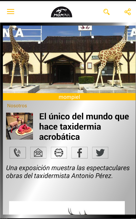 Taxidermia Mompiel: captura de pantalla
