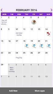 Mexico Calendar 2018 - náhled
