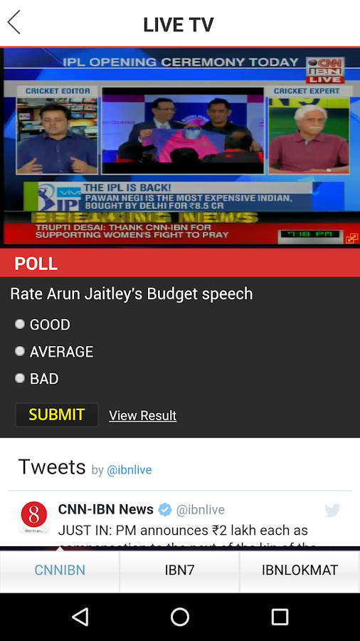 News18 for Android- screenshot