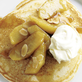Pancakes with Caramelized Apples.