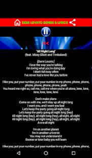 Demi Lovato Songs and Lyrics - náhled