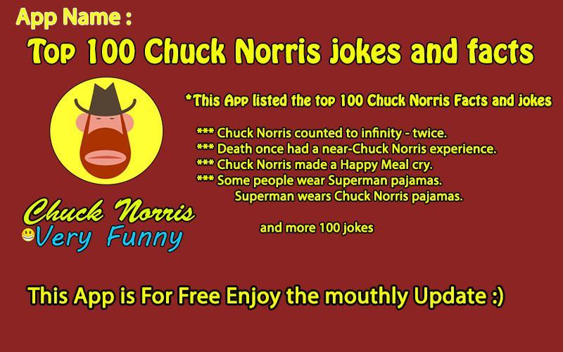 Top 100 Chuck Norris jokes Android App Screenshot