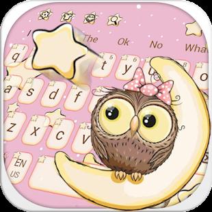 Téma roztomilé klávesnice sova - náhled