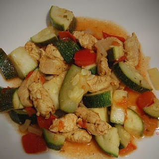 Chicken and Zucchini Curry.