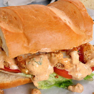 Baked Shrimp Po' Boy Sandwiches.
