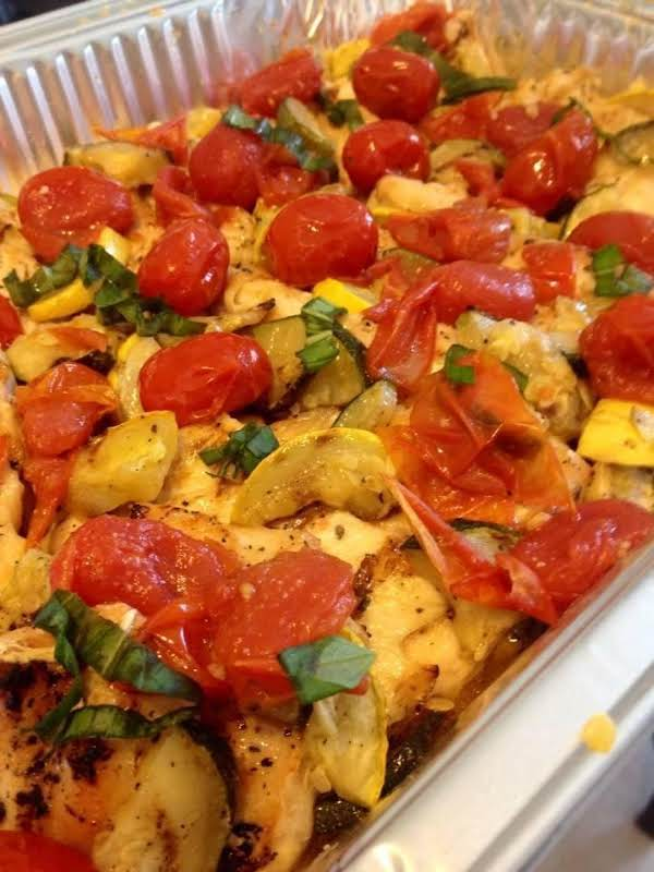 Tuscan Chicken With Popped Cherry Tomatoes Recipe