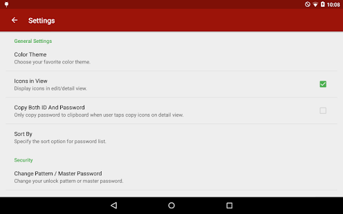 Password Book for Tablet - screenshot thumbnail