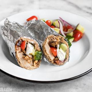 Greek Chicken Wraps.