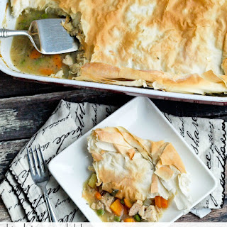 Lightened Up Turkey or Chicken Pot Pie {dairy-free}