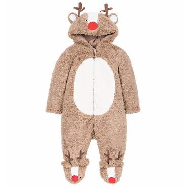 Mothercare 聖誕鹿毛毛一件頭